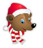 Christmas bear — Stock Vector