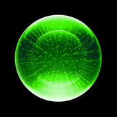 Green zorb — Stock Photo