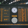 Stock Photo: Board schedules of trains and arrives at the station