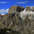 Royalty-Free Stock Photo: 360 ° views of the Val di Fassa and the Dolomites Italian
