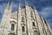 White Milan Cathedral in Gothic italian style — Stock Photo