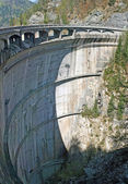 Dam for the production of clean electricity without polluting — Stock Photo