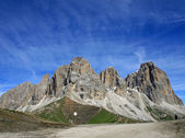 Sasso lungo mountain landscape of the Dolomites of Val di Fassa — Stock Photo