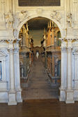 Interior of the Teatro Olimpico in Vicenza, designed by Andrea Palladio — Stock Photo