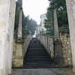 Very long staircase that leads pilgrims to the shrine — Stock Photo