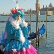 Colorful carnival mask on display in Venice — Stock Photo
