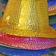 Multi-colored hats for a joyous celebration — Stock Photo