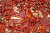Italian sun dried tomatoes for sale to the Sicilian market — Stock Photo