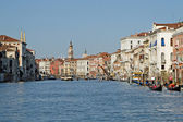 View of the Grand Canal in Venice water city — Stock Photo