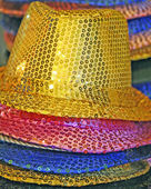 Multi-colored hats for a joyous celebration — Foto Stock