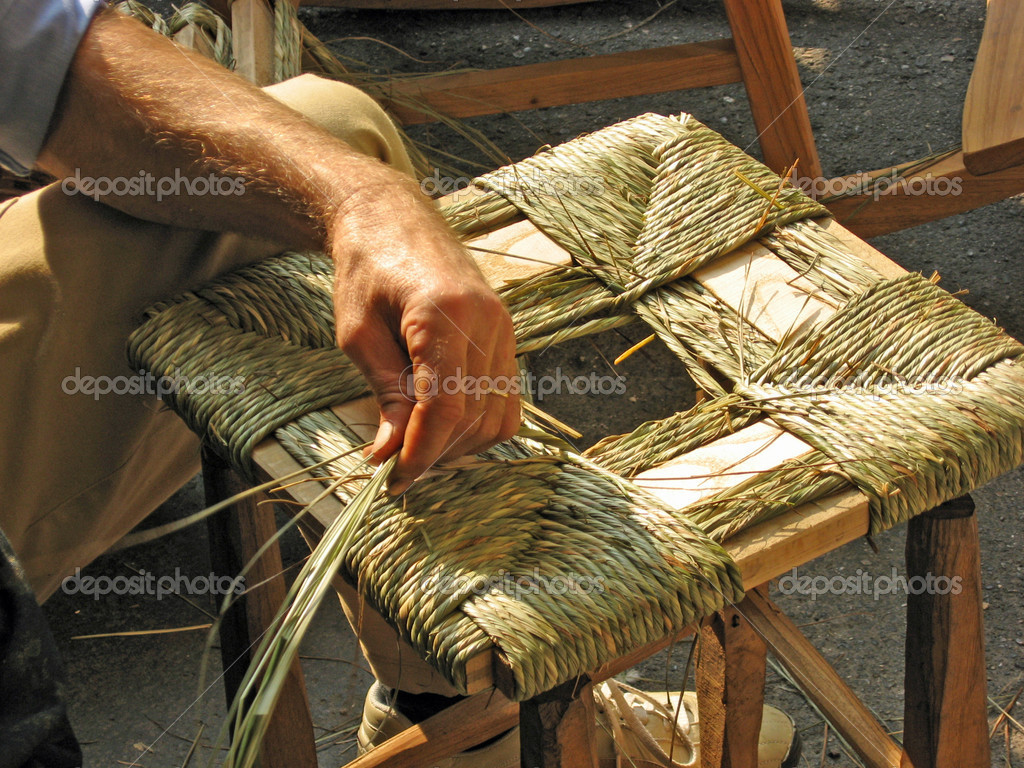 Trabajos artesanales italianos rellenos de la silla foto - Relleno para sillas ...