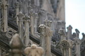 Particular white spires of the duomo di milano in Italy — Stock Photo