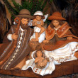 Nativity scene with Mary and Joseph and baby Jesus S001 - Stock Photo