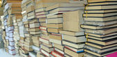 Pile of books for sale to the market — Stock Photo