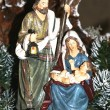 Stock Photo: Holy Family during birth of Jesus in manger 2
