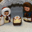 Holy Family during the birth of Jesus in the manger 8 — Stock Photo