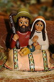 Holy Family during the birth of Jesus in the manger 6 — Stock Photo