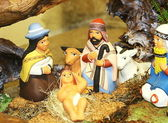 Mary and Joseph and the birth of Jesus at Christmas 12 — Stock Photo