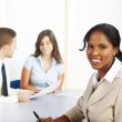 Young black businesswoman — Stock Photo