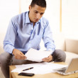 Businessman working with documents — Stock Photo