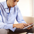 Businessman using a Tablet PC — Stock Photo