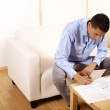 Businessman working with documents — Stock Photo #7636542