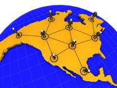 North America Business Network — Stock Photo