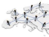 Europe Network — Stock Photo