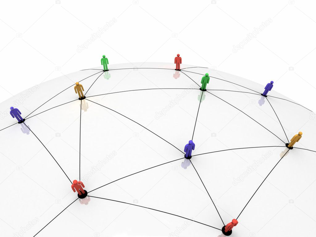 Global Communication and Network Concept. 3d image.  Stock Photo #7284526