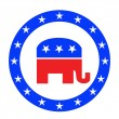 Republican button — Stock Photo