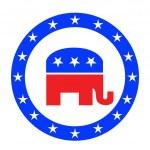 Republican button — Stock Photo #7112307