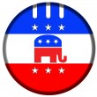 Republican badge button — Stock Photo