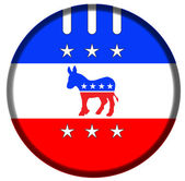 Demokrats banner badge — Stock Photo