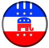 Republican badge button — Stock Photo