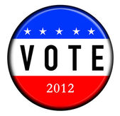 Vote Button 2012 — Stock Photo