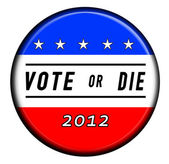 Vote or Die Button — Stock Photo