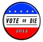 Vote or Die Button — Stock Photo