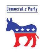 Democratic donkey party — Stock Photo