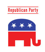 Republican party elephant — Stock Photo