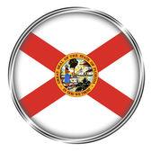 Button badge of Florida — Stock Photo