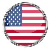Flag with usa button — Stock Photo
