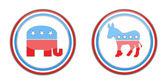 Republican and democrats — Stock Photo