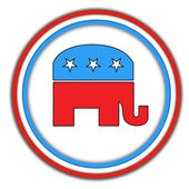 Republican-button — Stock Photo