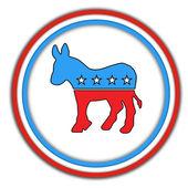 Democrats-button — Foto de Stock