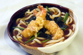 Japanese Food, Shrimp and Noodles Soup — Stock Photo