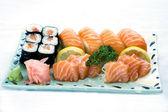 Japanese Food, Sushk & Sashimi Fish DIsh PS-43294 — Stock Photo