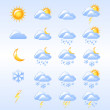 Weather icons - Imagen vectorial
