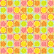 Stock Vector: Seamless citrus pattern