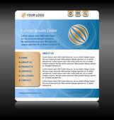 Website template layout — Stock Vector
