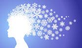 Lady winter — Stock Vector